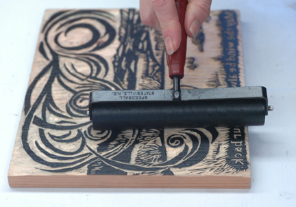 Wood cut printmaking
